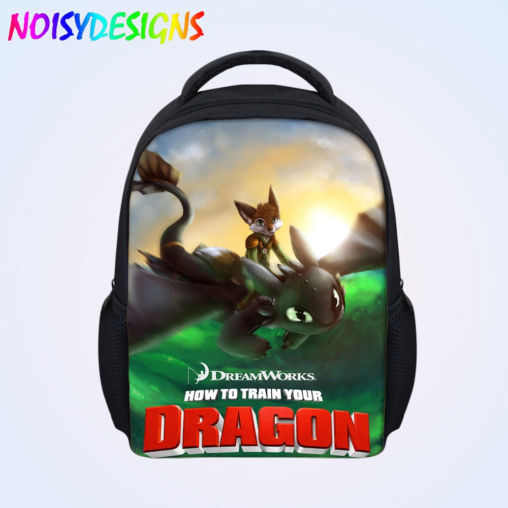 fae7ff57b19 12-inch Mochila How to Train Your Dragon Backpack Children School Bags Boys  Hiccup Toothless
