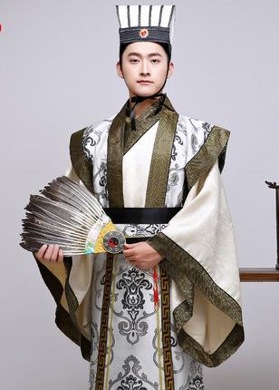 New Chinese ancient clothing costume film television performance wear the Three Kingdoms period minister Hanfu male