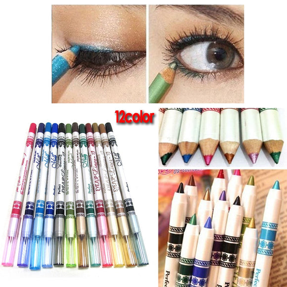 12 Color Glitter Eyeliner Pencil Eyeliner Eye Liner Eye Makeup Cosmetics Set