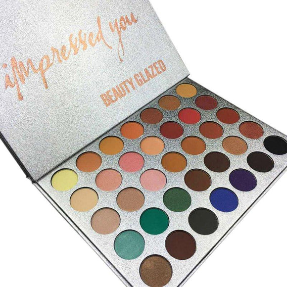 Chic 35 Color New Face Makeup Jacly Hill Eyeshadow Palette Shades Shimmer Matte Eyeshadow Pallete Cosmetics For morphes Style-Makeup-Zodeys-A-Zodeys