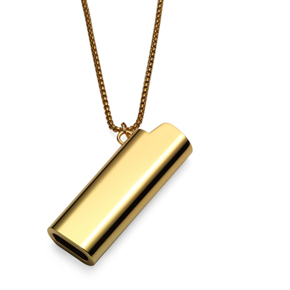 ... Hip Hop Rapper Jewelry Bling Bling Lighter Pendant Iced Out Golden  Hiphop CZ Necklace Men Women ... 1dae49219