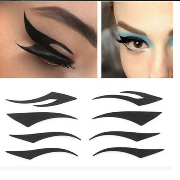 New 2PCS/Set DIY Women Cat Line Eyeliner Stencils Pro Eye Makeup Tool Easy to make up Eye Template Shaper Model-Makeup-Zodeys-1-Zodeys