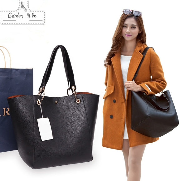 Luxury Brand Bucket Bags 2018 Famous Designer Women's Leather Handbags High Quality Tote Shoulder Large Capacity Messenger Bags