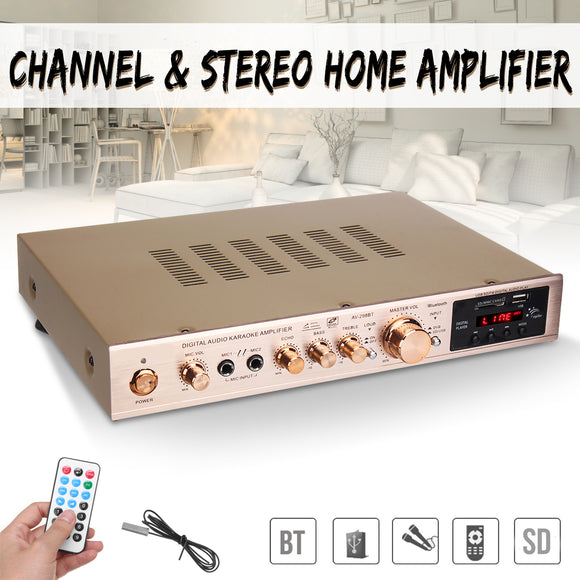 720W 5 Channel Home Amplifier Audio Digital Auto Car AV HiFi Class Power Amplifiers Stereo Sound FM Radio Player Aluminum Alloy