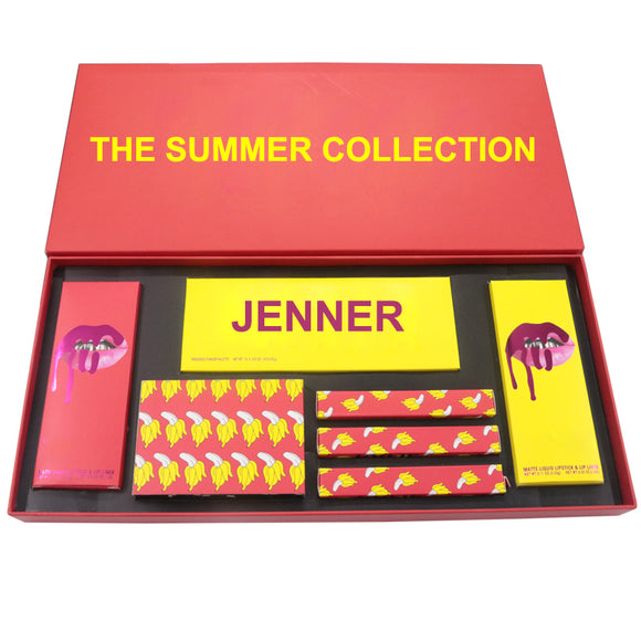 Jenner The Summer Collection Set Makeup Bundle Matte Lipstick Lip Gloss Maquiagem Eyeshadow Pallete Paleta De Sombras Profesiona-Makeup-Zodeys-Summer Set No Box-Zodeys