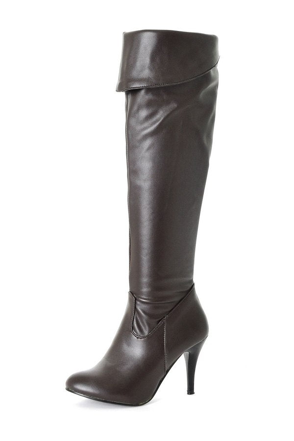 4bbc629d9b13 Big Size Women s Spring Autumn Winter Folding Over Knee Boots Sexy Thin  High Heel Boots
