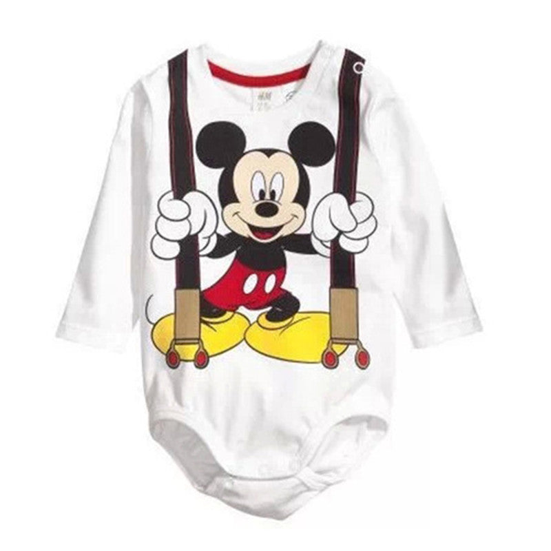 Unisex Cartoon Baby Boy Rompers Cotton Baby Girl Clothes Toddler Roupa