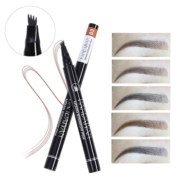 Makeup Eyebrows 4 Fork Microblading Tint Eye Brow Tattoo Pen Liquid Eyebrow Pencil Fine Sketch Waterproof Eyebrow Enhancer-Makeup-Zodeys-1-Zodeys