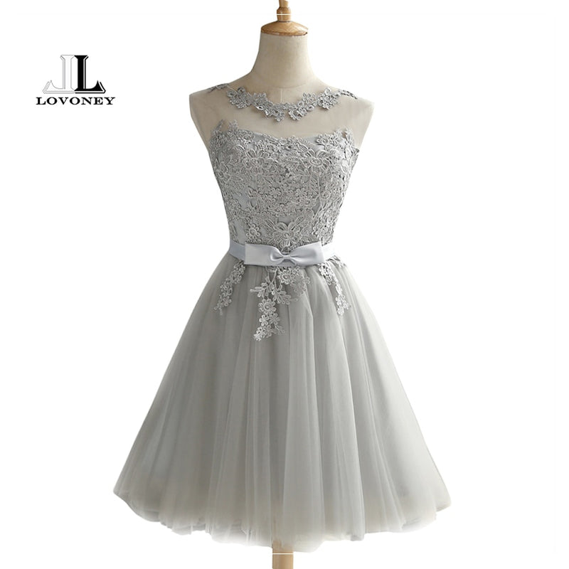 4d75f3a52ce LOVONEY CH604 Short Prom Dresses 2019 Sexy Backless Lace Up Prom Gown  Formal Dress Women Occasion