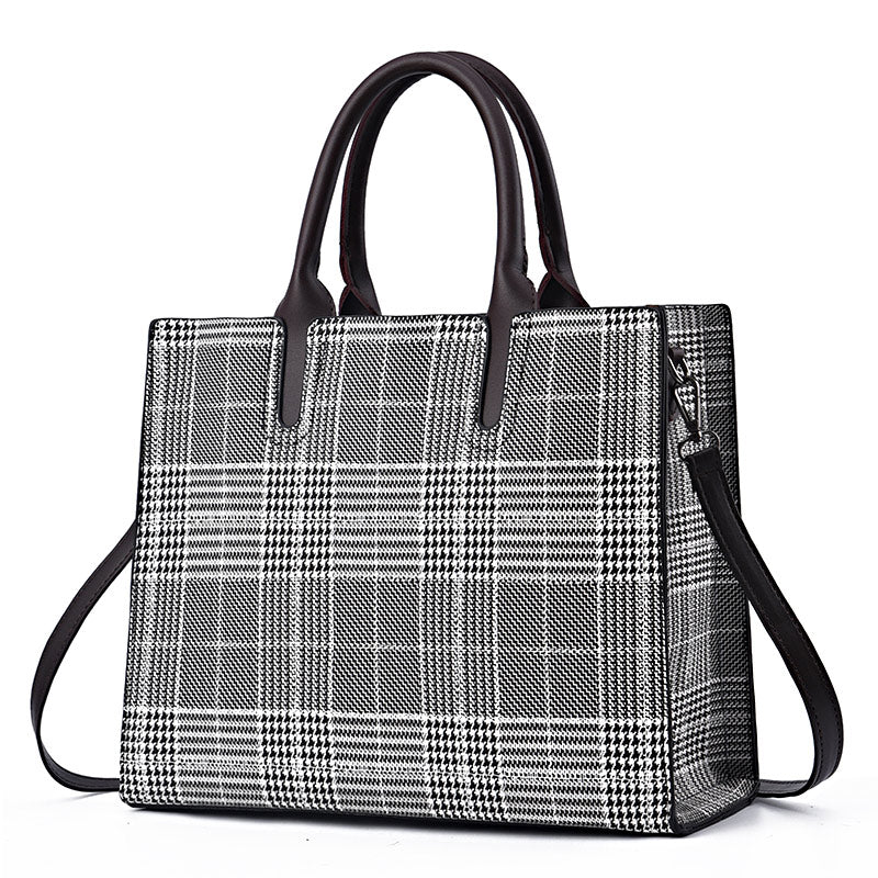 2b78ee2a8acf ... Women Fashion Shoulder Bag Female Daily Casual Totes Lady Elegant  Shopping Handbags Women Houndstooth Bags Dames ...