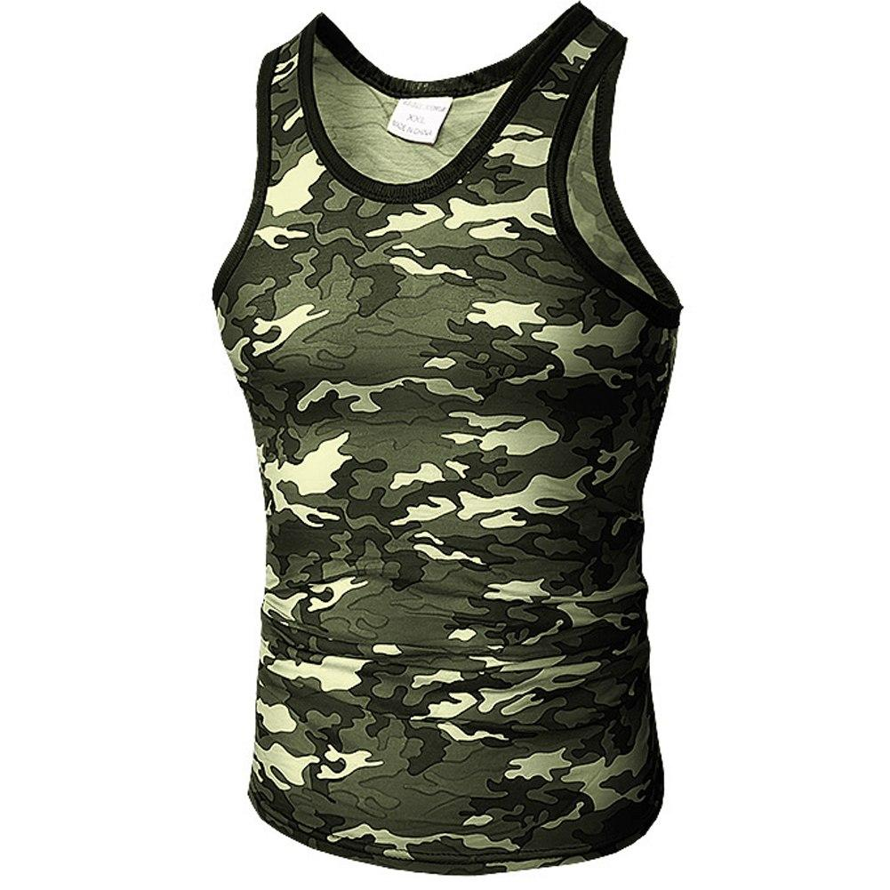 547ea1c118b6d Men Tank Top Military Camo Camouflage Mens Bodybuilding Tank Tops Singlet  Clothing Workout Undershirt Stringer Vest