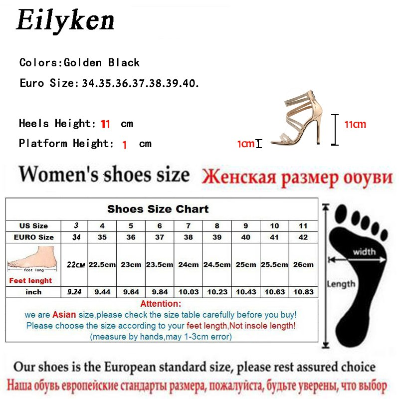... Eilyken Gold Bling Crystal Sexy Women Sandals High Heels Zip Gladiator  Women Sandals Stiletto Wedding Rhine ... 5343448a1a4d