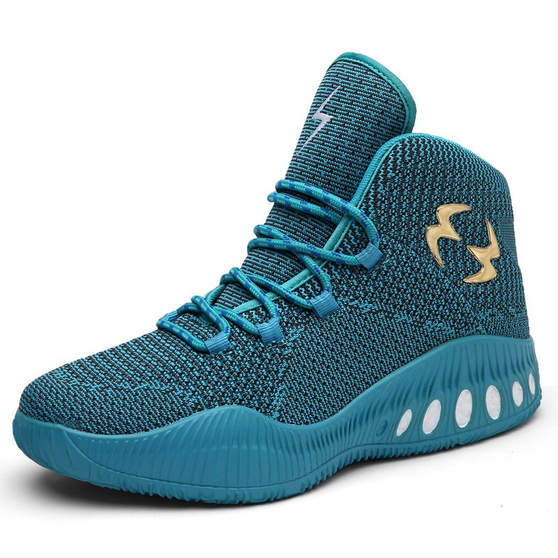 Sufei High Top Basketball Shoes Men Breathable Mesh Outdoor Sneakers