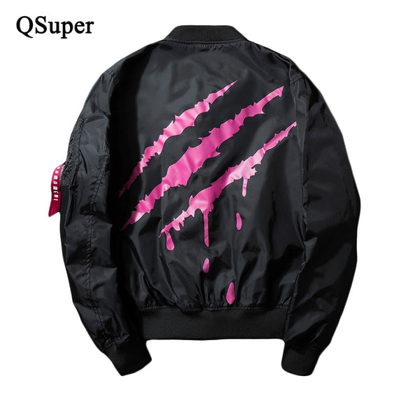 Fashion Monster Claw Print Bomber Jacket Men Thin Style Windproof Men Casual MA1 Jacket 2017 New Spring Motorcycle Jacket Brand