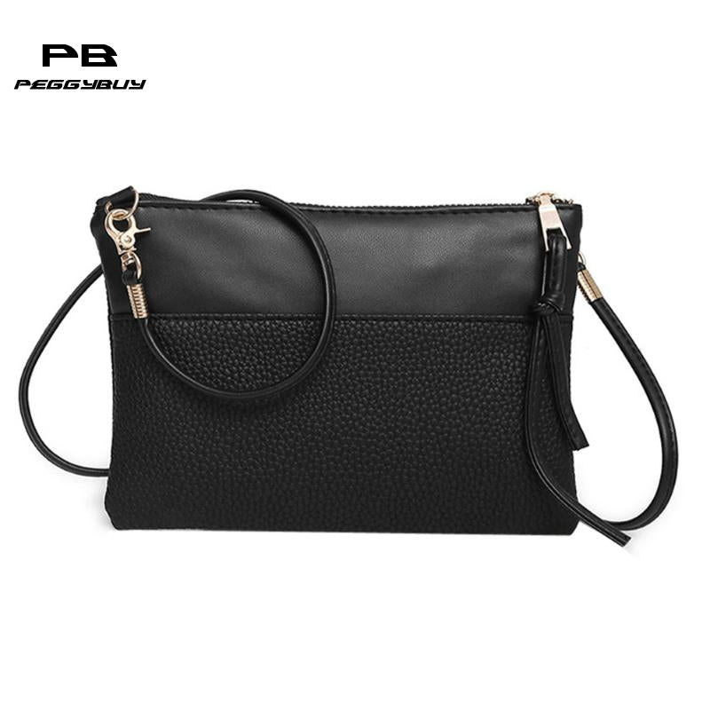 1cd7c500fa 2018 Women Small Messenger Bag Leather Sling Shoulder Bags Female Shoulder  Crossbody Bags Mini Clutch Handbags