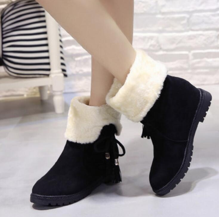 2d54e7004c66 ... Women Boots Female Down Winter Martin Boots Waterproof Warm Girls Ankle  Snow Boots Ladies Shoes Woman ...
