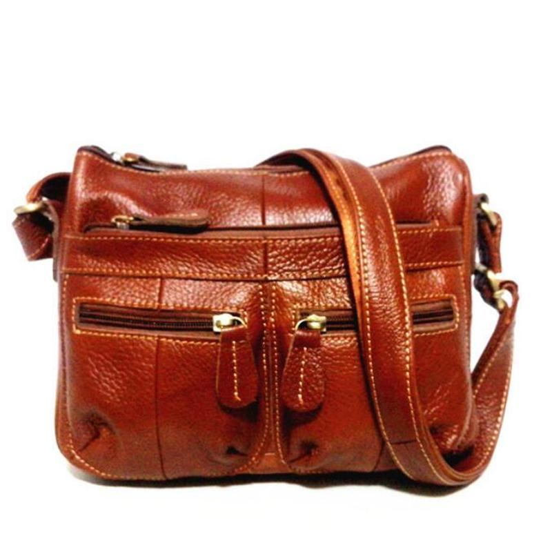 254f287b82 ... 100% Genuine Leather Handbags 2018 New Arrival Cowhide Women Messenger  Bags Leather Bag Female Cross ...