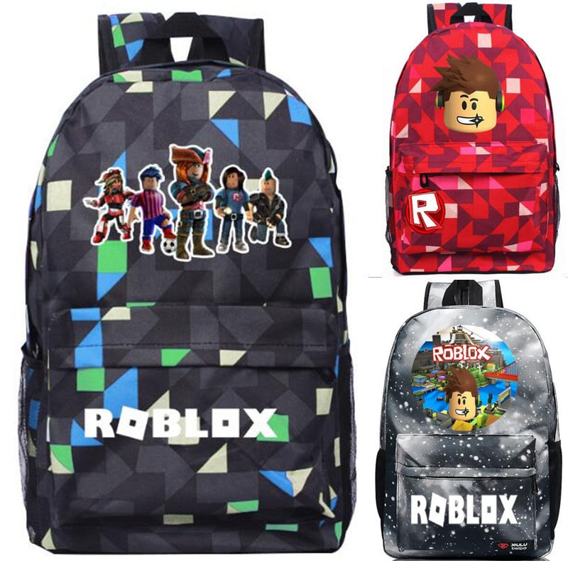 179f92014515 Galaxy Roblox Game Backpack Student Book School bag Notebook Daily backpack  Mochila Boys Girls Gift