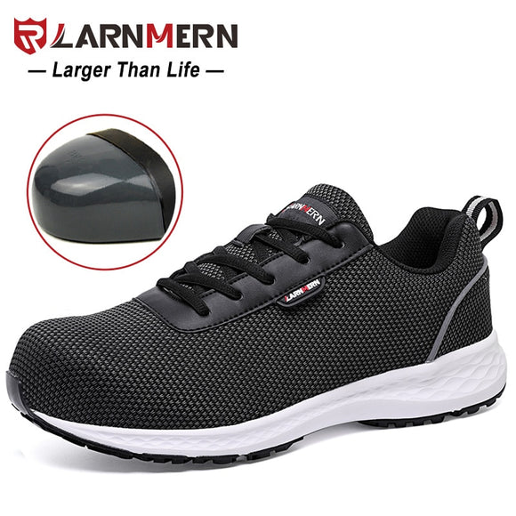 LARNMERN Size 36-41 Ladies Safety Shoes Women Steel Toe Lightweight Work Safety Shoes For Women Construction Protective Sneaker