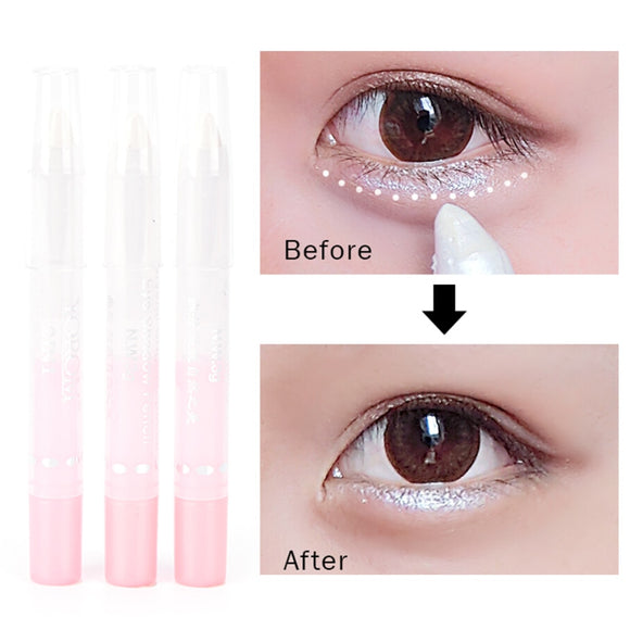 1PCS Pearl White Eyeshadow Pencil Eyeliner Cosmetic Makeup glitter sexy Eye liner