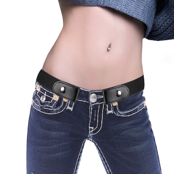 89x3.5cm Lazy Buckle-Free Elastic Waist Belt Stretchy Women Men Unisex Jeans Pants Dress Waistband Invisible Adjustable