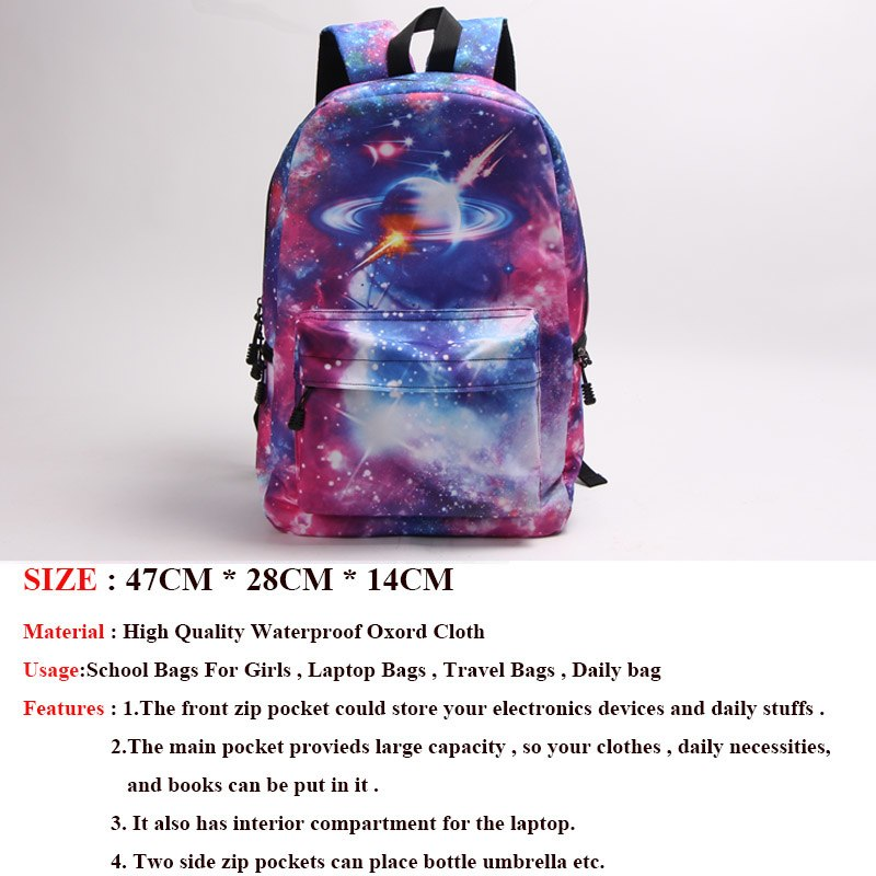 c60d455167 Galaxy Backpack For Teenager Girls Boy Universe Planet School Bag College  Student School Backpack Book Bag