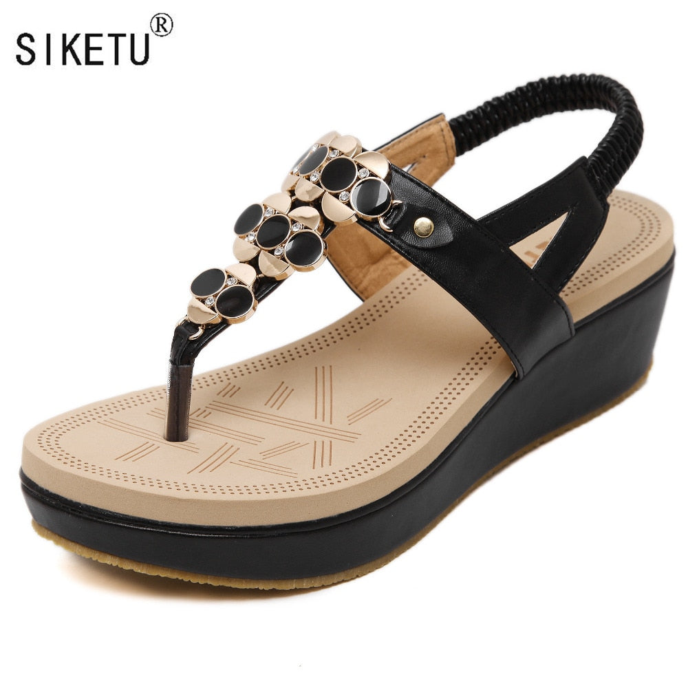 f732d50af7195 Summer Comfortable Sandals Women Platform Sandals Fashion Flip Flops Shoes  Woman Sandals 35-40 SIKETU