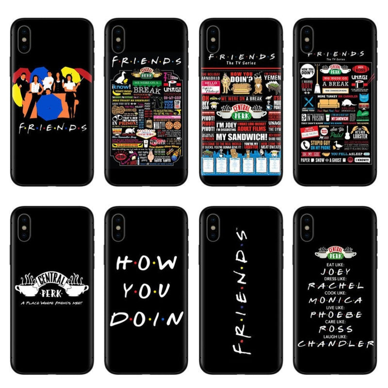 ec7242f3f6a9e Central Perk Coffee friends tv show how you doin Black silicone Phone Case  Cover For iPhone