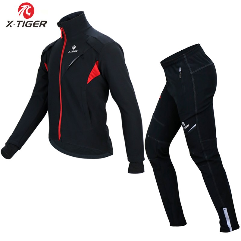 X-TIGER Cycling Jersey Winter Thermal Fleece Cycling Clothing Windproo –  Zodeys 5db516687