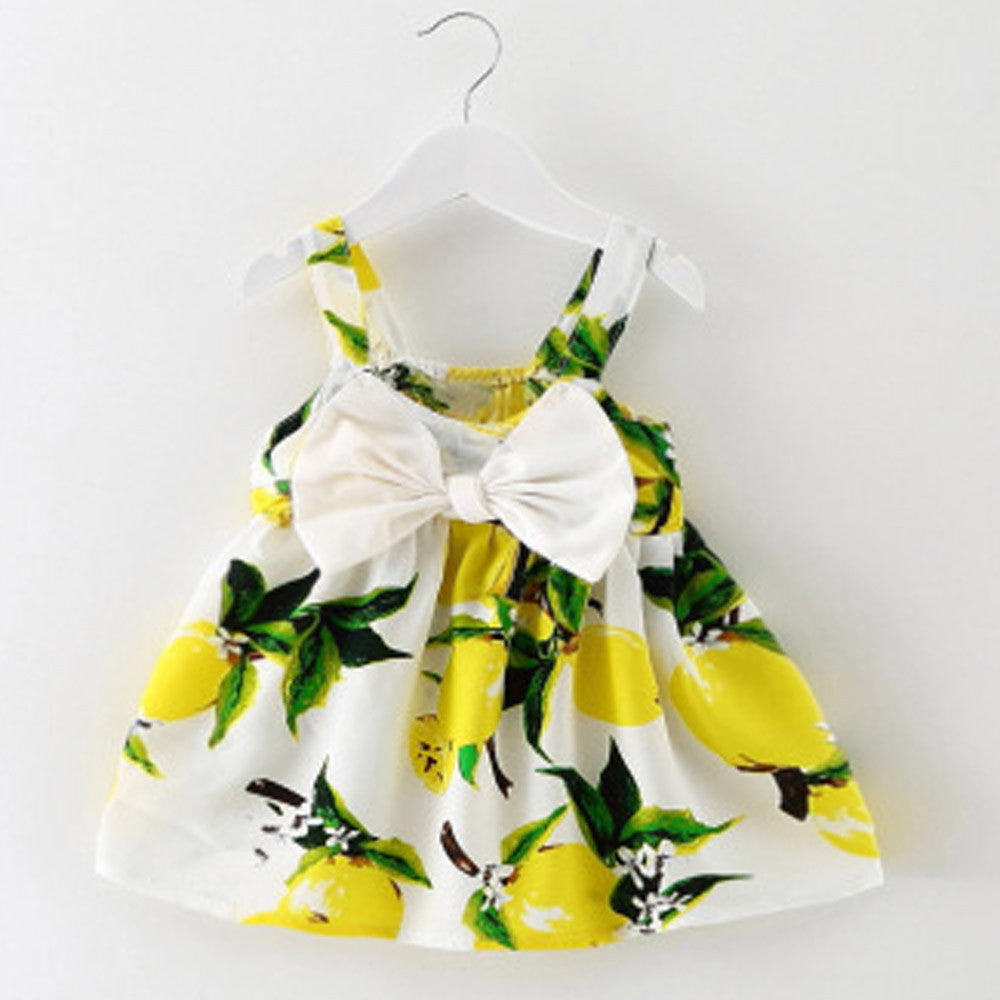 16a218a5abbd ... 2018 Hot Sale Baby girls dress Kids Summer Clothes Floral Printed Infant  Outfit Sleeveless Princess Gallus ...