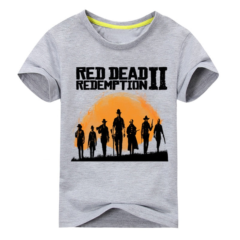 03b66538fe3 Boy Red Dead Redemption 2 Tees Top Costume For Unisex Kids Clothing Girls  Spring T-