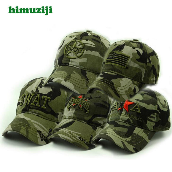 Spring Summer Mens Army Camouflage Camo Cap Cadet Casquette Desert Camo Hat Baseball Cap Hunting Fishing Blank Desert Hat