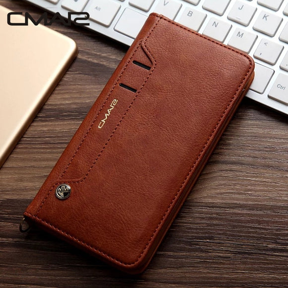 For iphone 7 Case Luxury Stand Flip Wallet Leather Case Flip Cover For iphone 6 6s 6 Plus 7 7 Plus 8 8 Plus X XS XR XS Max 6.5-Phone Cases-Zodeys-black-For iphone 6 6s-Zodeys