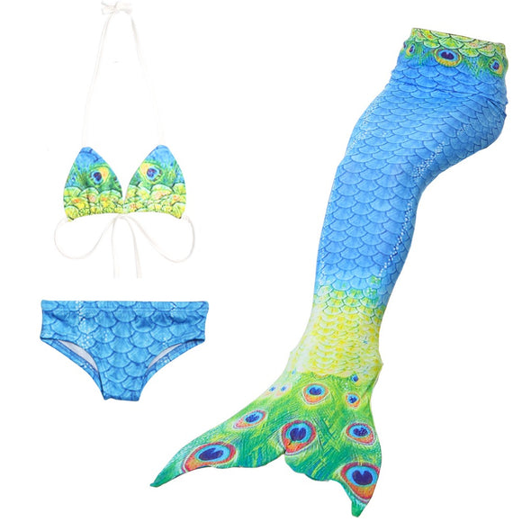 Mermaid Tail for Swimming Children Swimwear Bathing suit monofin Connectable Costume Bikini Mermaid Tail Cosplay Girls Swimsuit