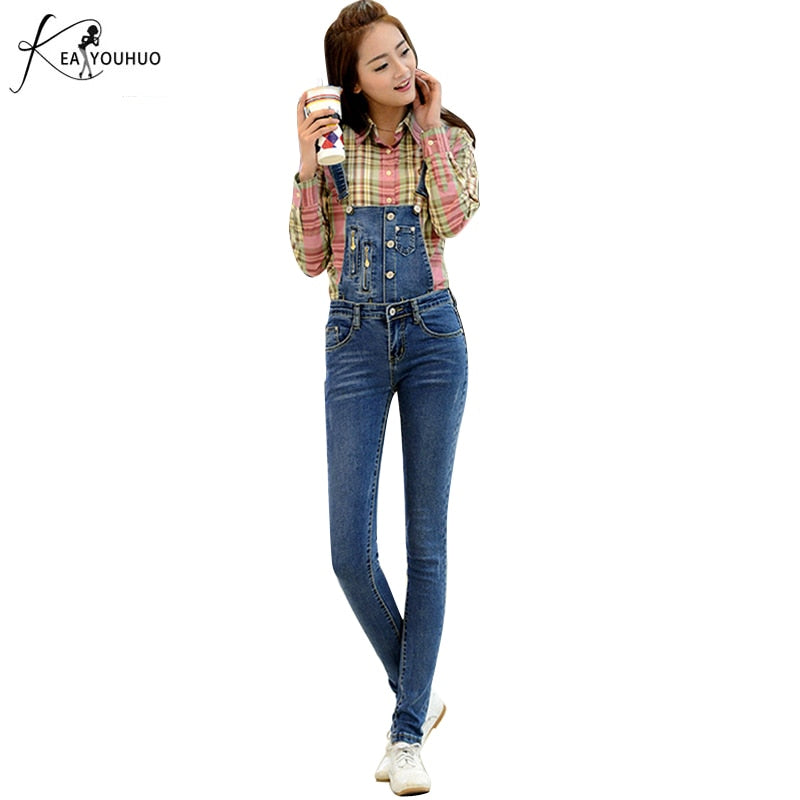 71e0cabc74 2018 Summer Ripped Jeans For Women Overall Jeans Vintage With High Waist  Pockets Denim Jumpsuits Female. Hover to zoom ...