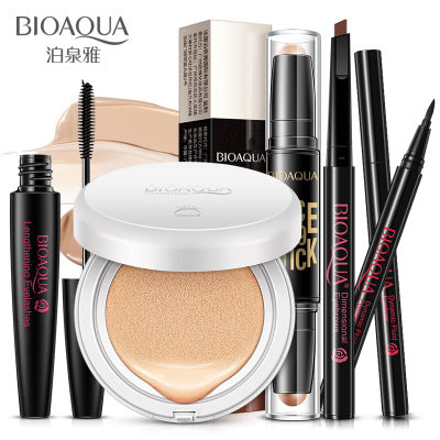 BIOAQUA Make up 5 Pcs/Set Beginners Charm Repair Concealer Makeup BB Cream Eyeliner And Rotating Mascara Waterproof Mascara-Makeup-Zodeys-01-Zodeys