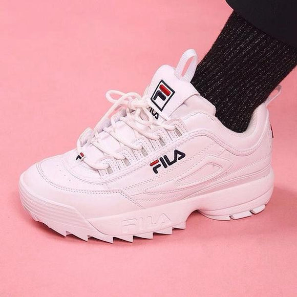 FILA  Disruptor II The 2 generation men and women Top Quality Running Shoes Free Shipping size eur 36-45
