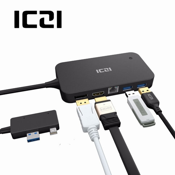 ICZI Surface Dock Hub with HDMI DP Ethernet Lan port USB 2.0/3.0 Port Docking Station for Microsoft Surface Pro 4 5 6