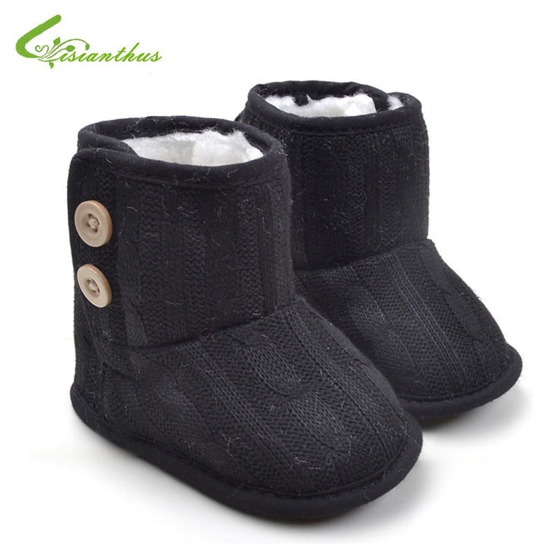 686fff4214fe Baby Girl Boy Fashion Snow Boots Toddler Winter Soft Knitted Shoes Infant  Warm Cotton Knitting Boots