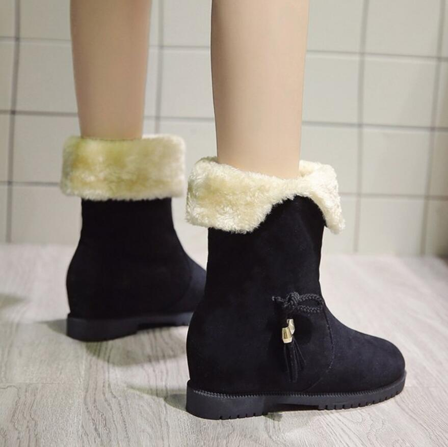 e05aa7187ecb Women Boots Female Down Winter Martin Boots Waterproof Warm Girls Ankle  Snow Boots Ladies Shoes Woman