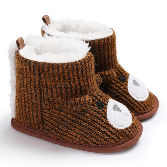 Winter Baby Boys Girls Shoes Winter Infants Warm Shoes Faux Fur Girls Baby Booties Boy Baby Bear Boots