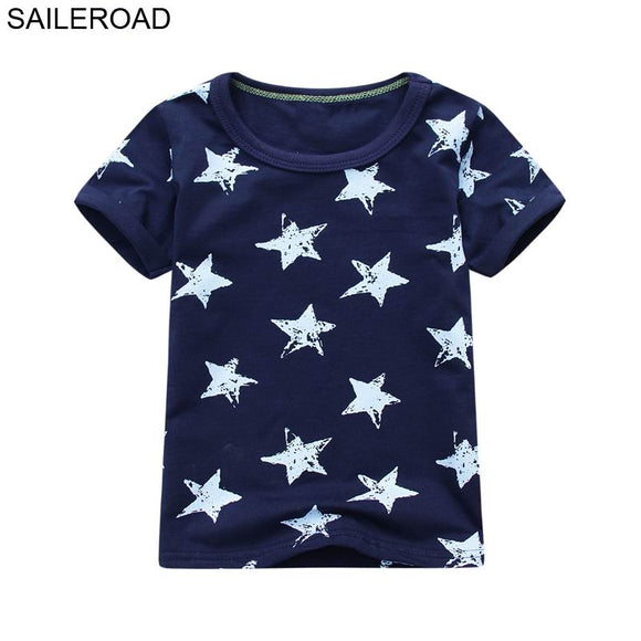 SAILEROAD Cotton Star Baby Boys Tops Tees T Shirt For New Summer Toddler Infant Kids Short Sleeve Clothes Fashion Boy's Clothing