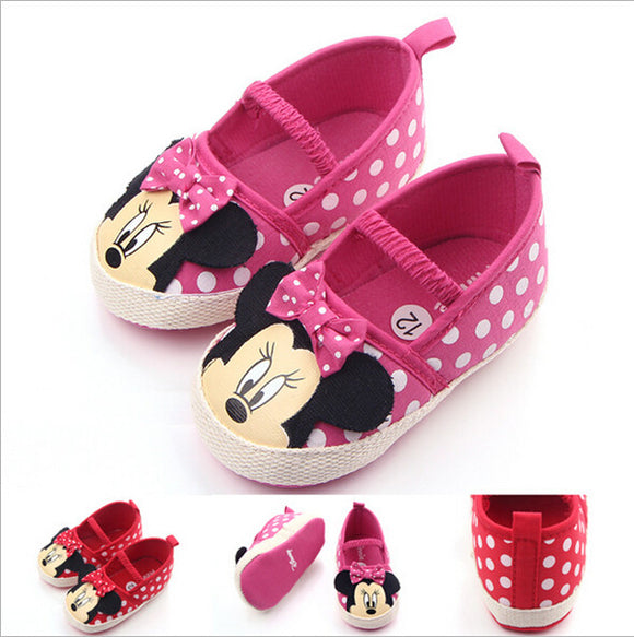 New Cartoon Baby Shoes Infants Girls First Walkers Soft Bottom Toddlers Crib Shoes