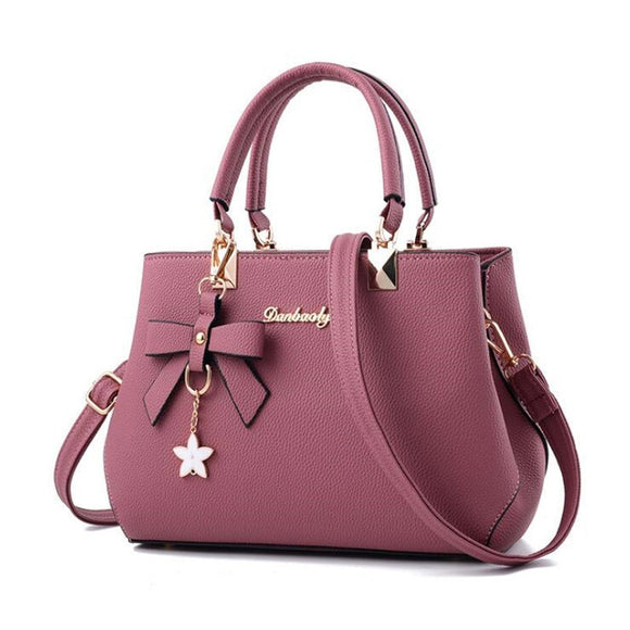 WENYUJH 2018 Elegant Shoulder Bag Women Designer Luxury Handbags Women Bags  Plum Bow Sweet Messenger Crossbody ade4715605
