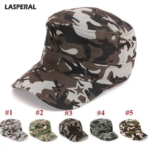 LASPERAL Camouflage Peaked Cap Adjustable Mens Womens Cap Backclosure Hat Hunting FIshing Cap Adult Outdoor Sports Camping