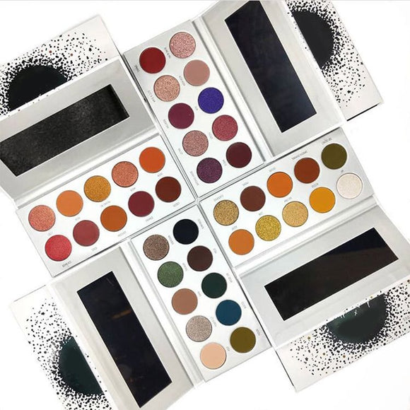 Brand 10 Colors Jaclyn Hill The Vault Eyeshadow Palette  Bright Glitter Matte Eyeshadow Pallete Sombra Ring My Alarm Bling Boss