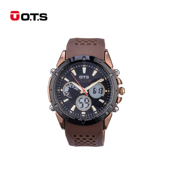 O.T.S Waterproof Luminous Dual Display Men's Watch with Back Light LED Sport relogio masculino Electronic Wristwatches 47