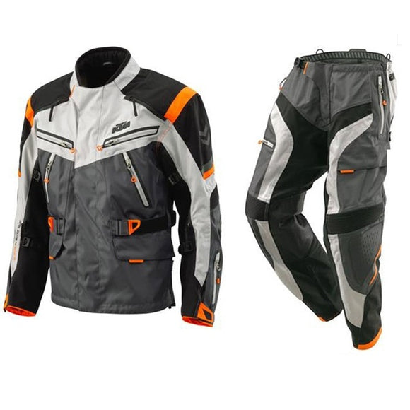 2018 Defender for ktm Motocross Rally Suits Waterproof Windproof Racing Riding Jacket+Pants Motorcycle MX riding Clothes S-XXL N