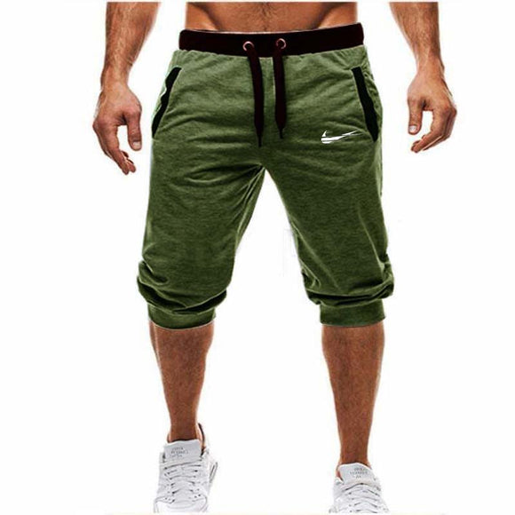Mens Baggy Jogger Casual Slim Harem Shorts Soft 3/4 Trousers Fashion New Brand Men Sweatpants Summer Comfy Male Shorts 2018 New