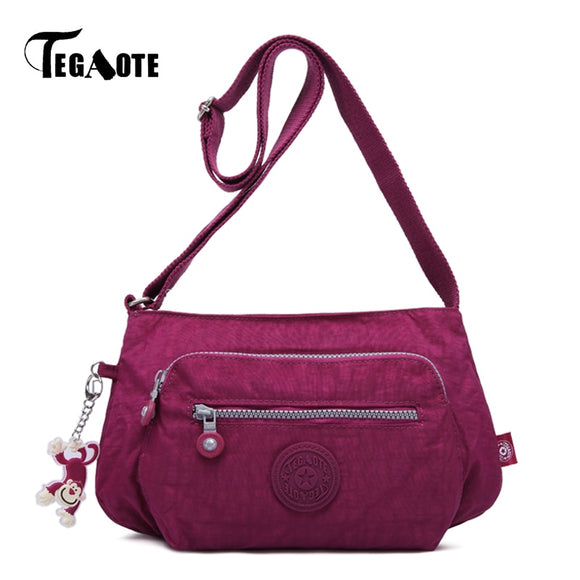 TEGAOTE Crossbody Shoulder Bags For Women Hobos Messenger Bag Female Handbag Beach Clutch Nylon Casual Bolsas Feminina sac femme